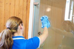 LD-Hausbetreuung | Büroreinigung | Reinigen Glastüre